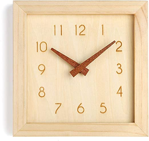 Decorative Wall Clocks Battery Operated Non Ticking 8 Inch Silent for Home