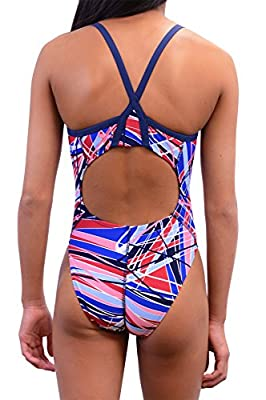 Adoretex Women's Pro One Piece Thin Strap Athletic Swimsuit