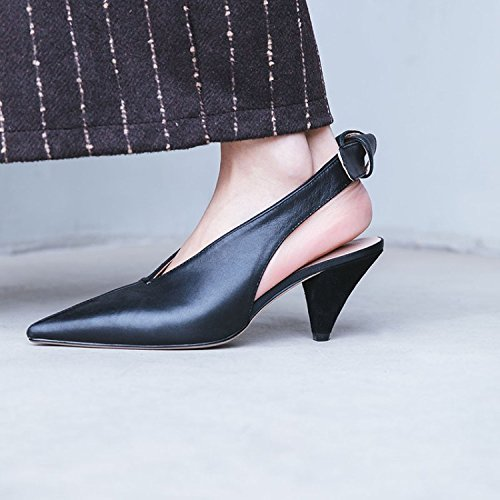 Jqdyl High Heels Damen Einzel Schuhe Stilettos Seasons Sandalen  34|Black