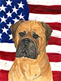 Cheap Caroline's Treasures SS4001CHF USA American Flag with Bullmastiff Flag Canvas, Large, Multicolor