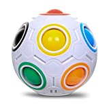 Jspoir Melodiz Spherical Cube, Rainbow Ball Cube, Speed Puzzle Toys, Stress Reliever, Magic Ball Puzzle