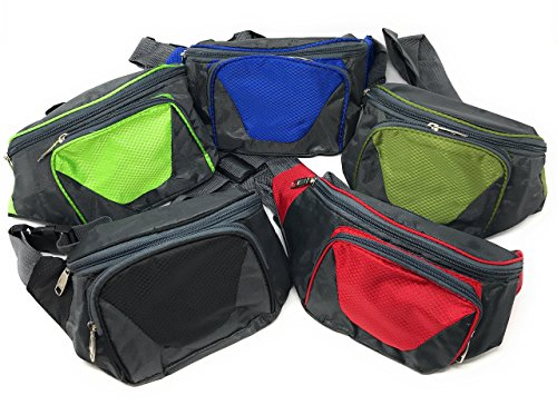 Sea View Treasures Bulk 5 Piece Travel and Hiking Fanny Pack Assortment