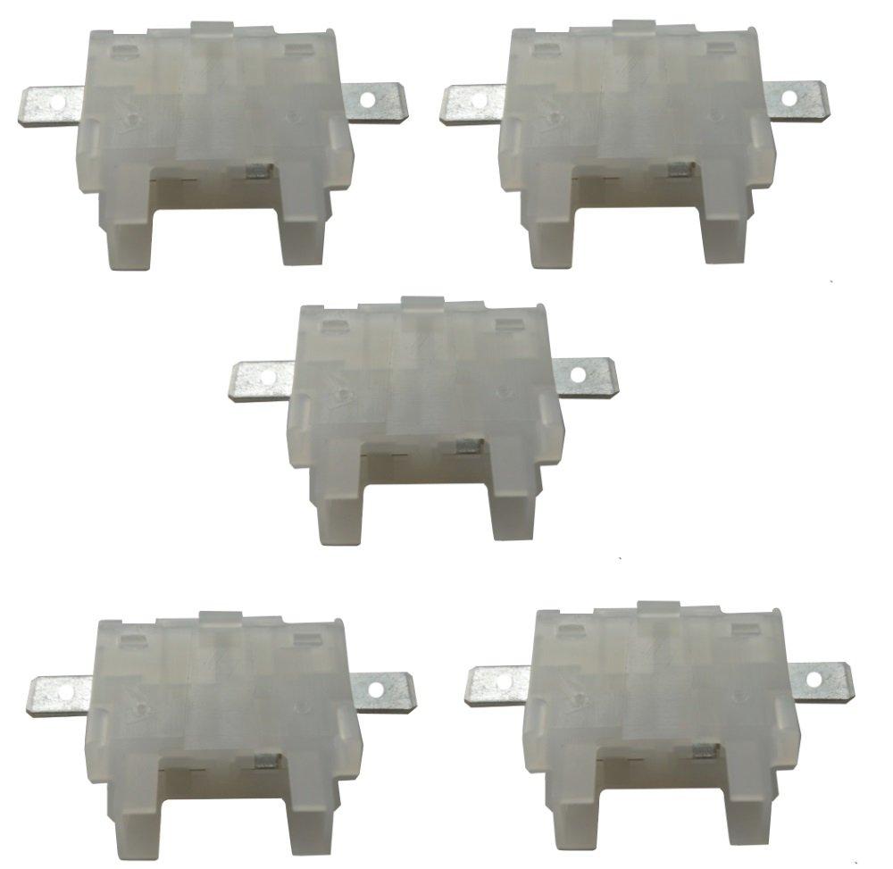 5 St/ück Sicherungshalter Sockel f/ür Sicherungen Gerichte 19 mm Midi Aerzetix