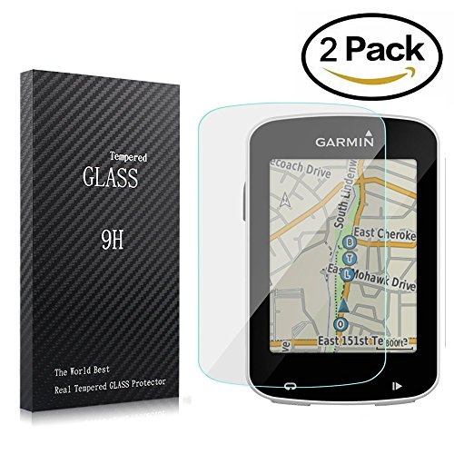 820 Glasses (Youniker 2 Pack Garmin Edge 820 Screen Protector Tempered Glass,Garmin 520/820 Screen Protector Foils Glass 9H Hardness 0.3MM Slim,Anti-Scratch, Anti-Fingerprint,Bubble Free with High Definition)