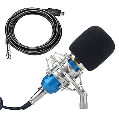 Baoblaze Sound Recording Audio Equipments Set, Microphone & XLR Cables & Shock Mount by Baoblaze