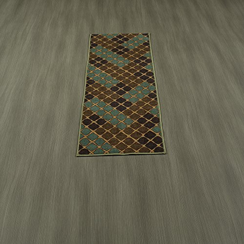 Ottomanson Studio Collection Squares Design Runner Rug, 20