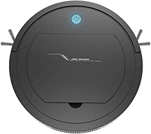 Rechargeable Automatic Robot Vacuum, Slim Robotic Vacuum Cleaner with Self-Charging 1500PA & Quiet,Daily Schedule Cleaning for Pet Hair, Carpet, Hardwood Floors,Tile (1x, Black)