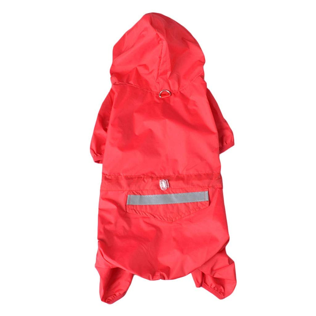 Red XXL Red XXL LSLMCS Pet Supplies Dog Raincoat Four Seasons Universal Puppy Clothing Windproof Waterproof Warm Dog Poncho Four Feet Hoodedbluee Green Red Yellow(XS-XXL) (color   Red, Size   XXL)