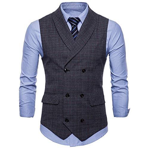Comradesn Gilets Slim Blazer De Fit Costume Social Gray Mariage D'affaires Mens Homme Sans Gilet Masculin Classique Manches Light rw8Cqr