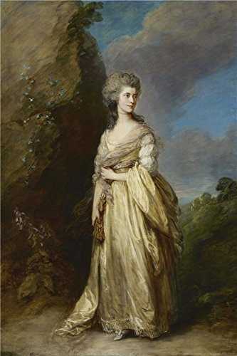 The Perfect Effect Canvas Of Oil Painting 'Thomas Gainsborough - Mrs. Peter William Baker, 1781' ,size: 24x36 Inch / 61x92 Cm ,this Beautiful Art Decorative Prints On Canvas Is Fit For Home Theater Gallery Art And Home Artwork And Gifts