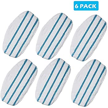 Jorllina Steam Mop-Pads for PurSteam-ThermaPro 10-in-1 - Replacement Pads 6 Pack