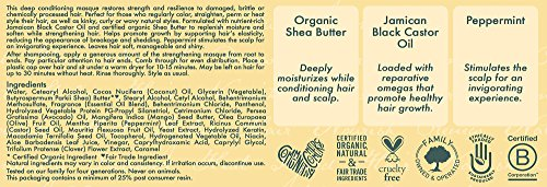 51cC4TyoQjL Shea Moisture Jamaican Black Castor Oil Strengthen & Restore Treatment Masque, 12 oz.