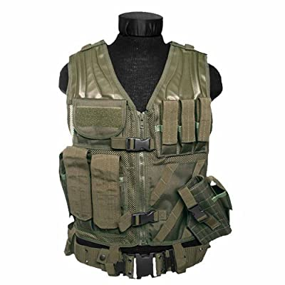 Olive Green Army Usmc Marines Assault Military Combat Paintball Tactical Vest Airsoft