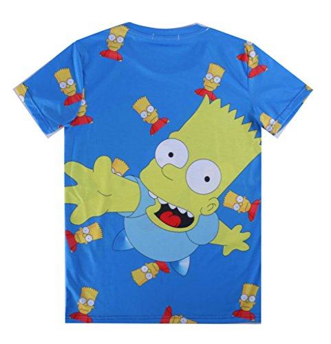 Better Vie Men's Fashion Crew Neck T-Shirt Tee Simpson 3D Printed XL