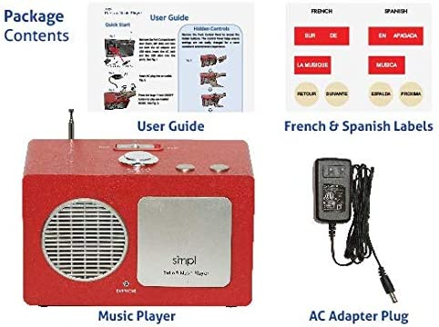 Includes 75 Nostalgic Hits SMPL One-Touch Music /& Radio Center The Gift of Music Made smpl with The Entertainment Center Everyone Can Use Eases Caregiver Stress