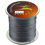 Titanline Super High Grade Fiber PE Briad Braided Fishing Line Gray 60LB 500M Meters Review