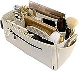 Laela Luxe Felt Handbag Purse Organizer, 14 Pockets, 2 Sizes - Tote & Handbag Shaper (X-Large, Cream)