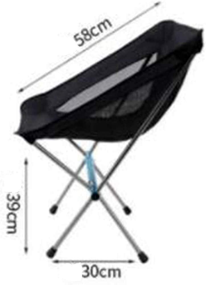 Lanxing Acampar Plegable Silla de Playa con Bolsa de Transporte for el mochilero Camp Park Picnic al Aire Libre Beach Festival (Color : Blue) Black