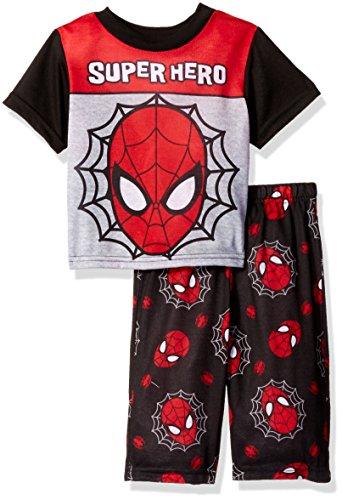 Marvel Boys' Spiderman Super Hero 2-Piece Pajama Set, Superhero Red, 24M