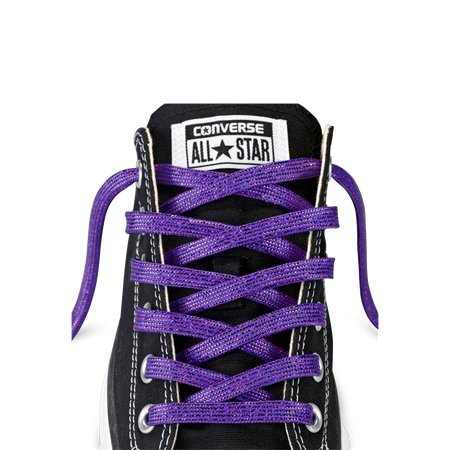 Converse Unisex Replacement Cord Shoe Laces Flat Style Shoelaces (Purple Sparkle, 36)