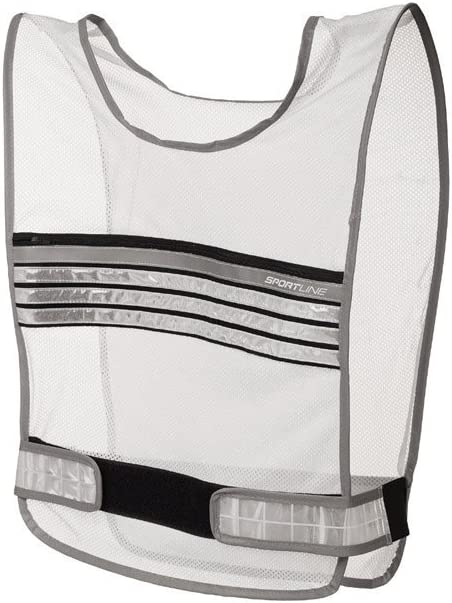 Sportline Machine Washable Reflective Run Vest With Adjustable Strap And Lightweight Breathable Mesh-Includes Integrated Zippered Chest Storage Pocket