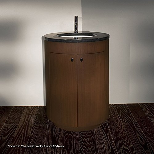 - Free-standing under-counter vanity with two doors and one adjustable shelf. Polished chrome pulls are included. 26W x 23 1/2D x 35H. Countertop and washbasin sold separately. by Lacava