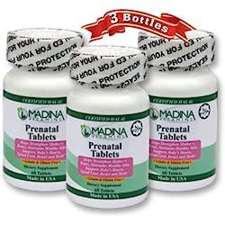 Halal Prenatal Vitamins Gluten Free (3 Pack) - Madina Vitamins