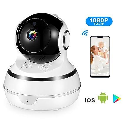 ACCEWIT Cámara de Vigilancia Cámara IP Wifi 1080P Interior Dome Cámara, rotación de 355 °