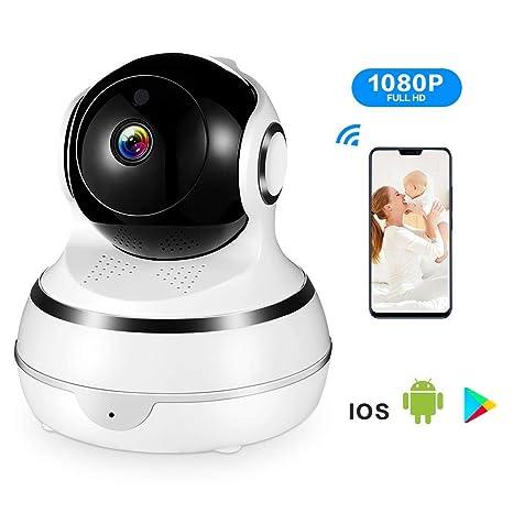 ACCEWIT Cámara de Vigilancia Cámara IP WiFi 1080P Interior Dome Cámara, rotación de 355 ° / 110 °, Cámara de Seguridad con Detección de Movimiento ...