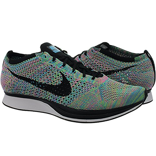 fast delivery cheap online discount huge surprise Nike Men's Flyknit Racer Running Shoes Green Strike/Black/Blue Lagoon the cheapest for sale nqbrN5nrBm