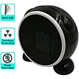 Joymee Portable Personal Space Fashion Desktop Fan Heater Cartoon Mini PTC Ceramic Low - Power Warmer Heater, Black