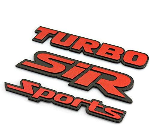 [해외]자동차 스타일링 닦았 금속 SIR 스포츠 터보 자동차 스티커 배지 자동 데칼 엠블렘/Car styling Brushed Metal SIR sports TURBO car sticker badge auto decal em