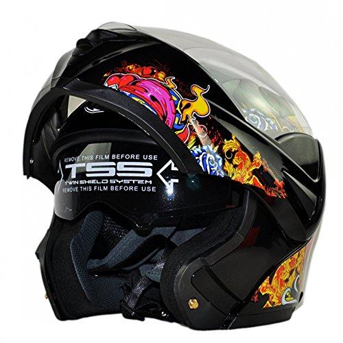 Skull Shaped Motorcycle Helmet - 4