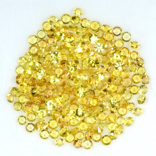Starjewelryco 7.31 Cts Natural Top Golden Yellow Sapphire Diamond Cut Round Lot (Golden Yellow Sapphire)
