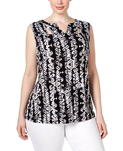 NC International Concepts Plus Size Cutout-Neck Snake-Print Top (2X, Charmed - Outlets In Nc