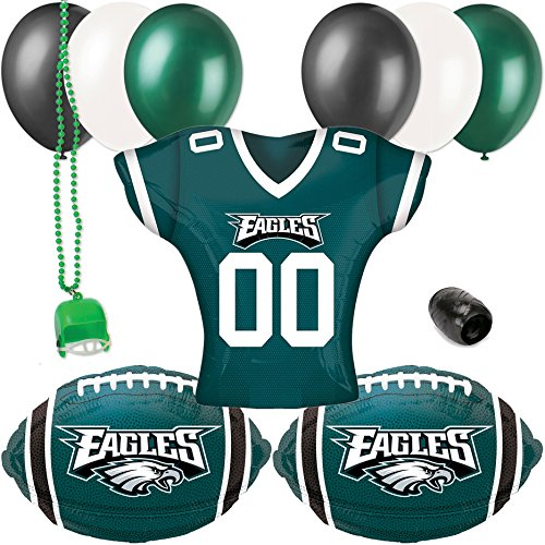 Philadelphia Eagles Jersey Football Party Decoration 10pc Balloon Pack