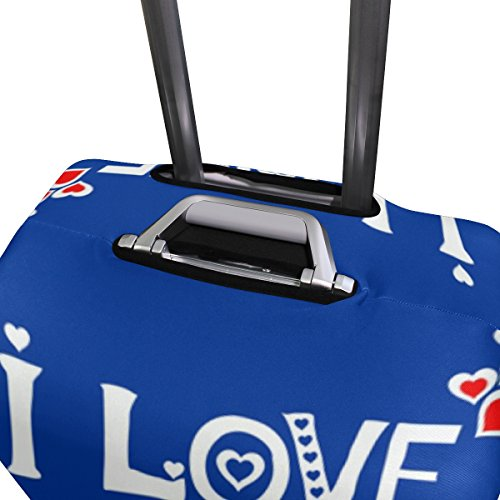 Love You Dad Father Day Birthday Suitcase Luggage Cover Protector for Travel Kids Men Women by ALAZA (Image #3)