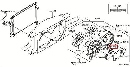 Amazon com: Infiniti Genuine Radiator Shroud Cooling Fan