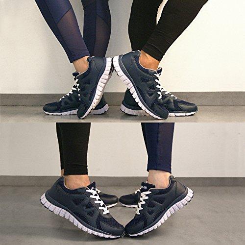 Shenda Unisex (Männer / Frauen) Leichte Jogging Laufschuhe, Mode Turnschuhe, Turnschuhe Blau