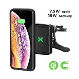 XVIDA Magnetic Wireless Charger Car Mount, Air Vent Phone Holder, QC3.0 Fast Charging, with Fan for iPhone Xs, iPhone Xs Max, iPhone XR, iPhoneX/8/8 Plus/Samsung Galaxy S9/8/7/Note 8 and More