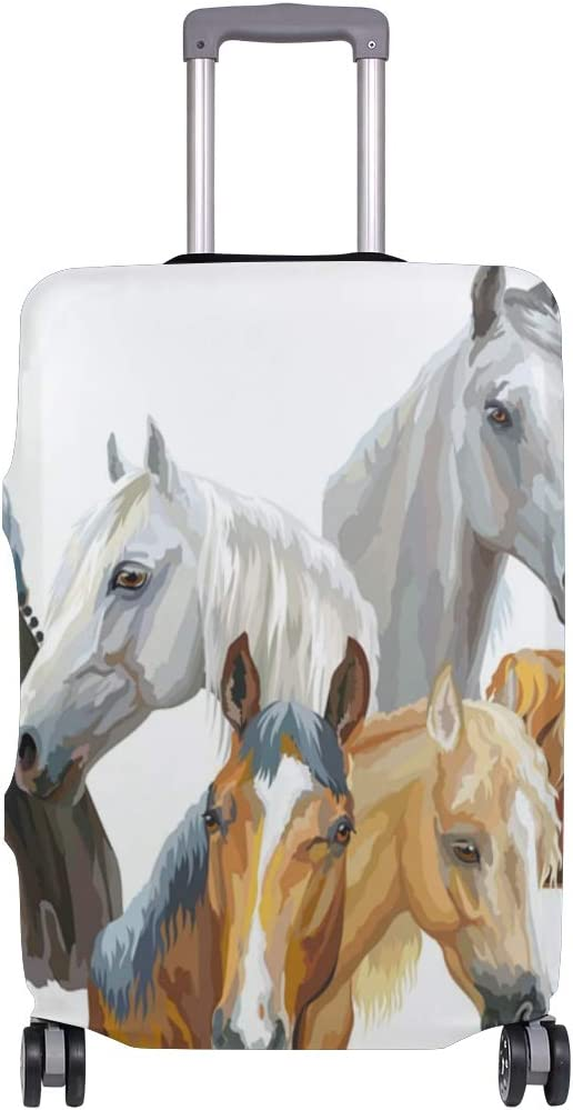 FOLPPLY Horse Painting Luggage Cover Baggage Suitcase Travel Protector Fit for 18-32 Inch