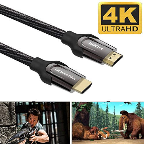 BESSKY 16.4ft / 5M Black HDMI Cable V2.0 4K@60Hz 3D 1080P- HDTV LCD LED for XBOX BLUERAY- - Tracking Next Air Day