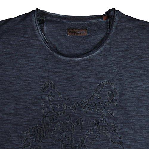 emilio adani Herren Rundhals T-Shirt, 21706, Blau