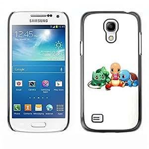 Caucho caso de Shell duro de la cubierta de accesorios de protección BY RAYDREAMMM - Samsung Galaxy S4 Mini i9190 - Pokemn Amigos