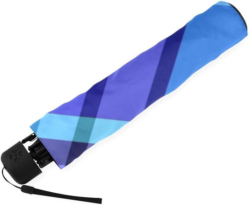 Scottish Tartan Plaid Pattern Folding Rain Umbrella Parasol Windproof Travel Sun Umbrella Compact