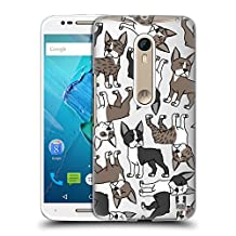 Head Case Designs Boston Terrier Dog Breed Patterns 6 Hard Back Case for Motorola Moto G (3rd Gen)