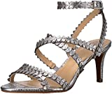 Vince Camuto Women's Yuria Heeled Sandal, Gleaming Silver, 6.5 Medium US