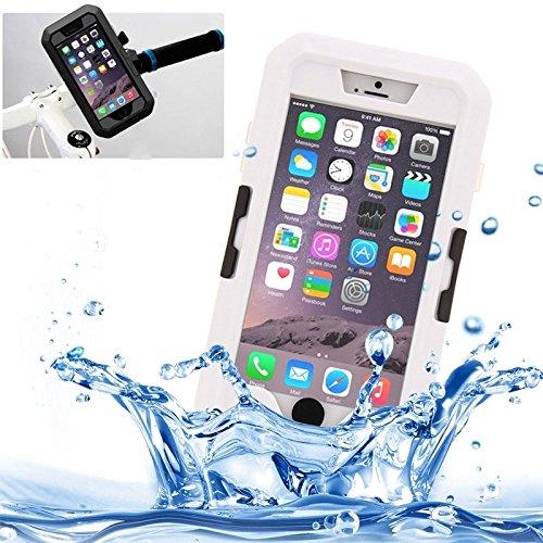 Phone Taschen & Schalen Für IPhone 6 Plus / 6s Plus, IPX8 wasserdicht Touch Sensible Screen Case mit Fahrradhalter & Lanyard ( Color : White )