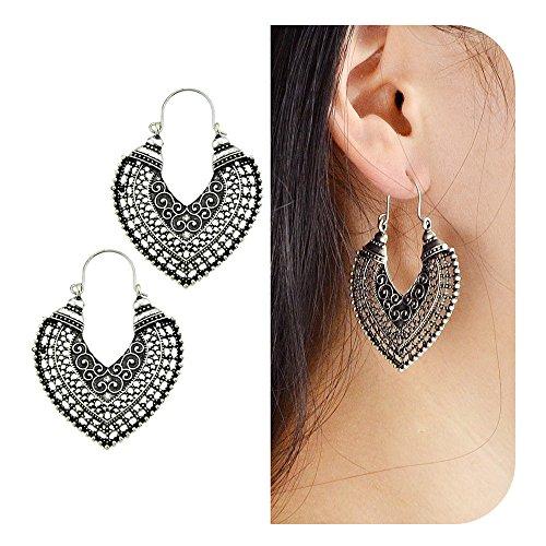 Antique Heart Earrings - 4