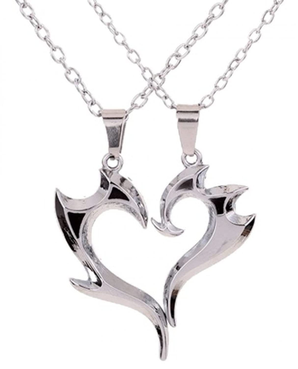 kuniu lovers necklace matching couple hearts produit stainless steel pendant index shape pair fashion rhinestone